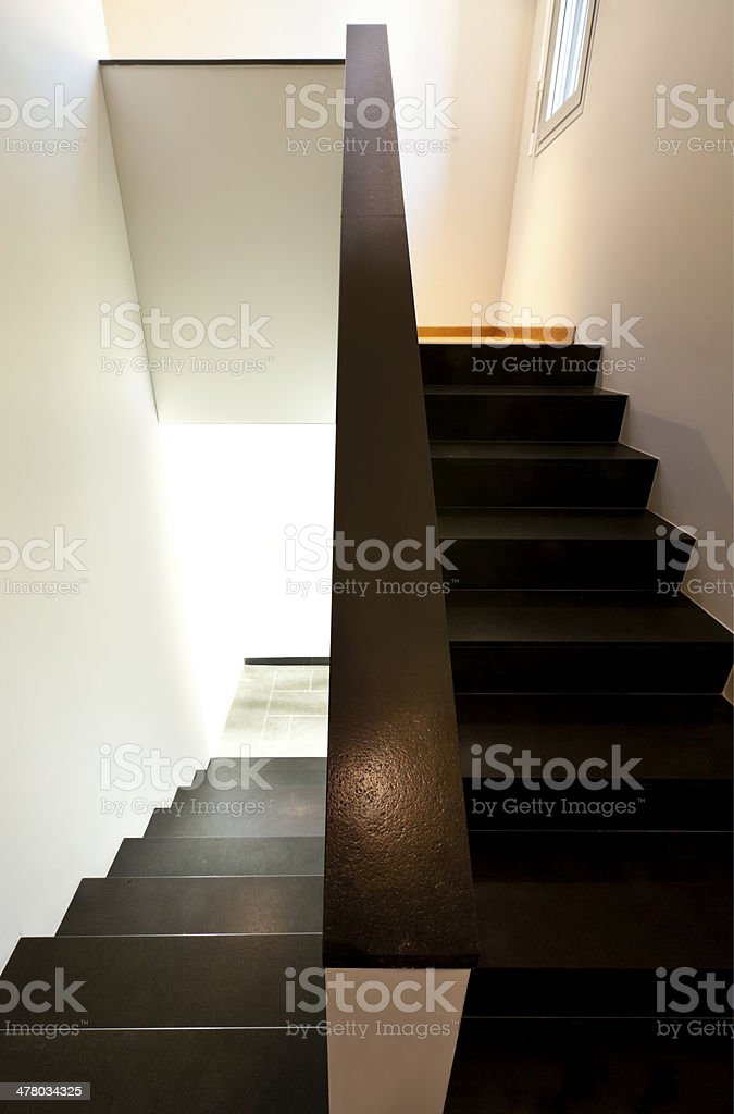 Modern house, staircase royalty-free stock photo