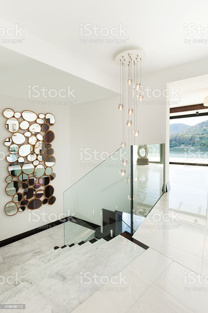 modern house; staircase stock photo