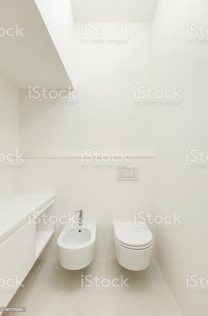 Modern house, toilet stock photo