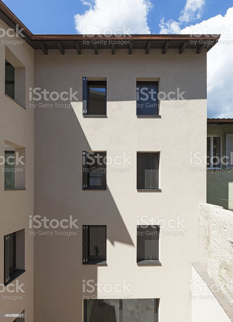 modern house, view from outside royalty-free stock photo