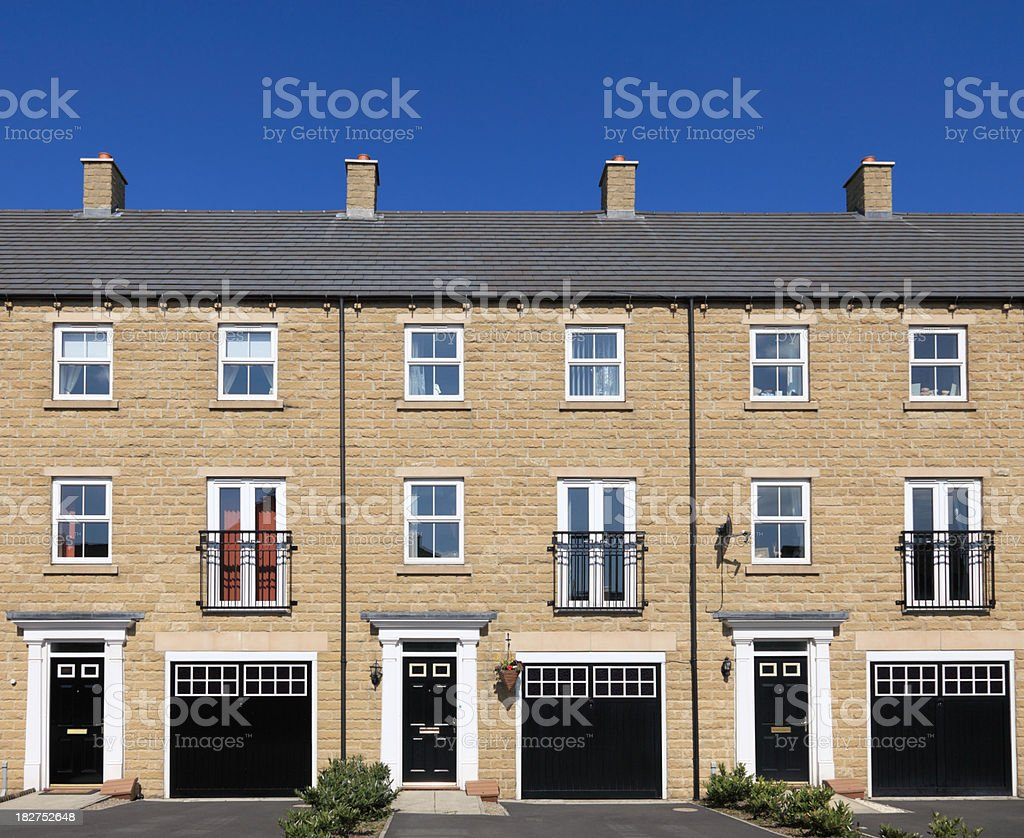 Modern houses royalty-free stock photo