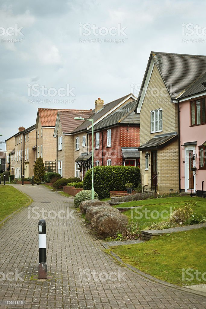 Modern houses royalty-free stock photo