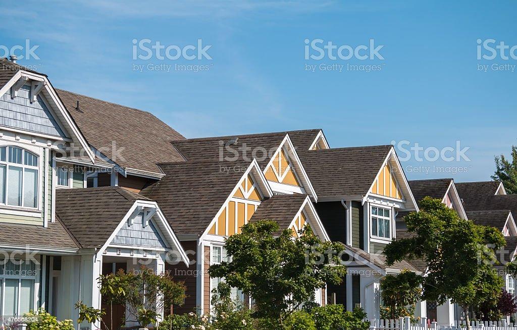 Modern Houses stock photo