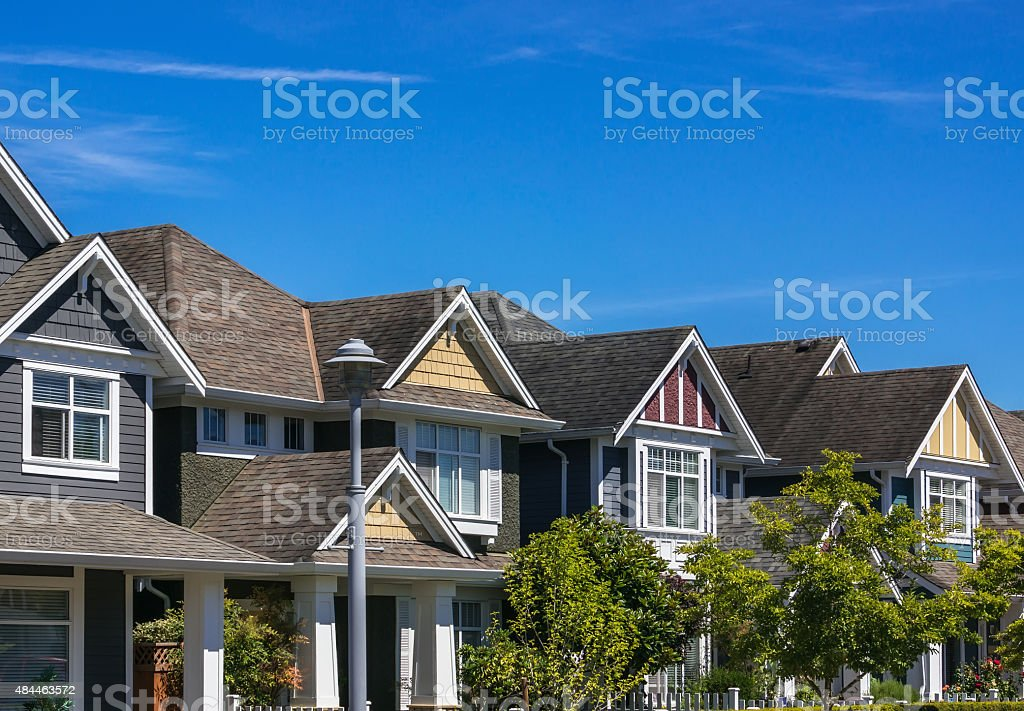 Modern Houses stock photo