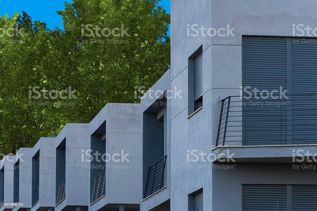 Modern houses. stock photo