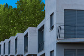 Modern houses.