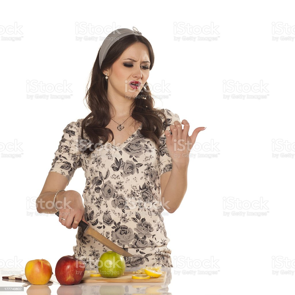 modern housewife royalty-free stock photo