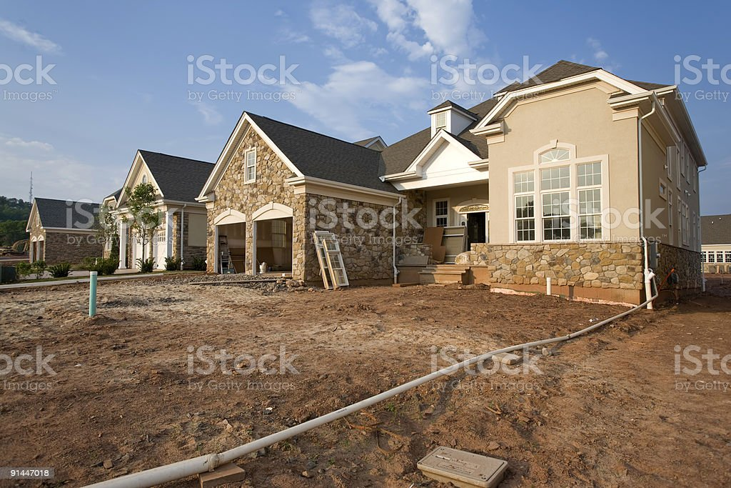Modern Housing Development royalty-free stock photo