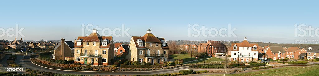 Modern housing development - XXXL royalty-free stock photo