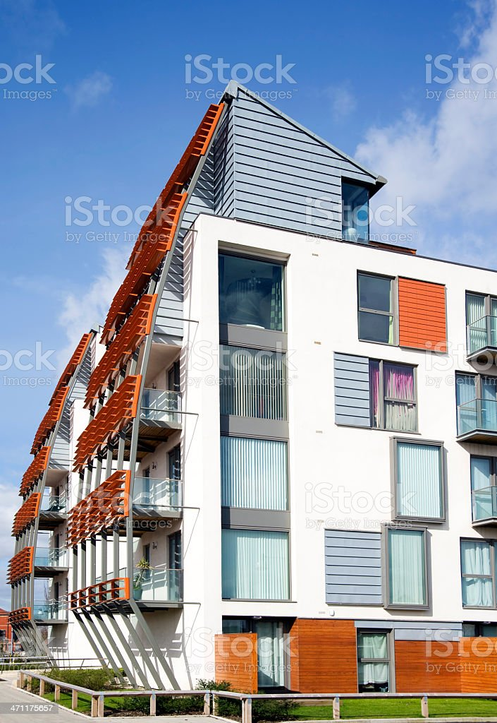 Modern Housing with Balconies royalty-free stock photo