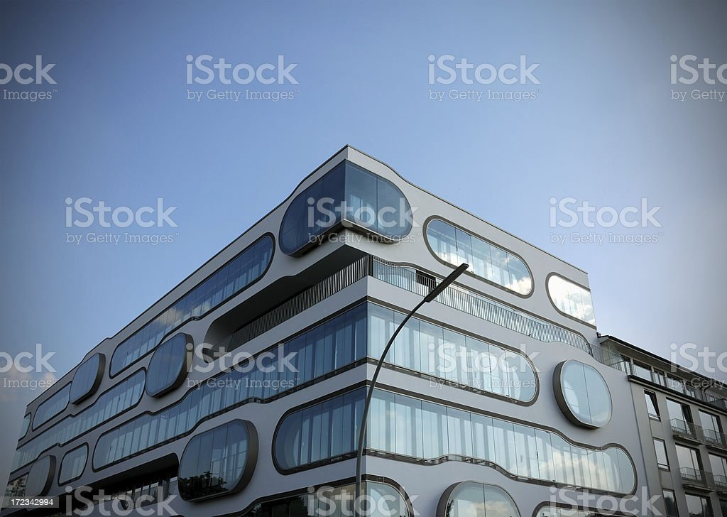 modern in the evening stock photo