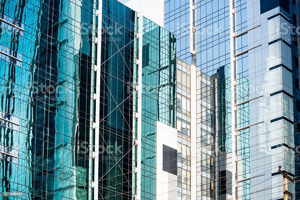 Modern India, Office Buildings in Gurgaon near New Delhi stock photo