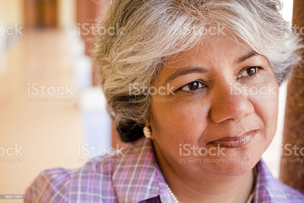 Modern Indian Confident Attractive Mid Aged Business Woman royalty-free stock photo