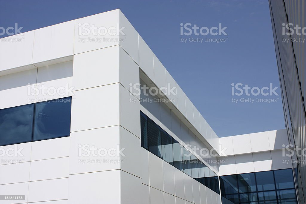 Modern indstrial building stock photo