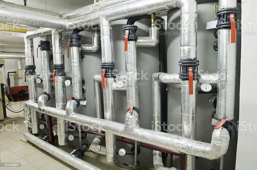 modern industrial boiler room stock photo