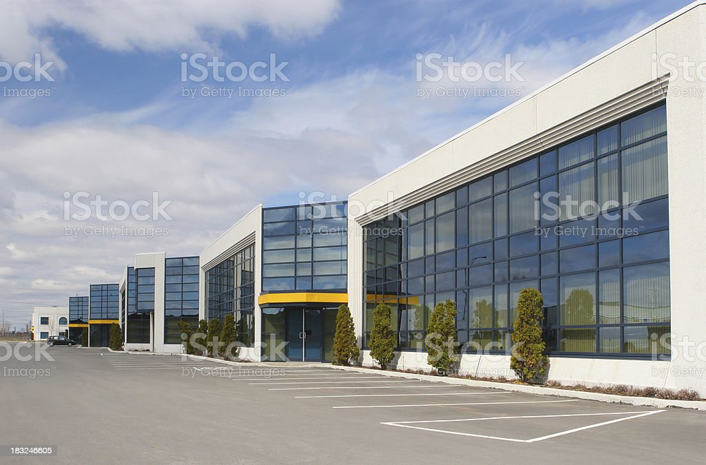 Modern Industrial Building Exterior royalty-free stock photo