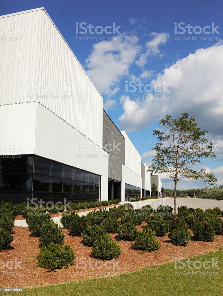 Modern Industrial Building with plants royalty-free stock photo