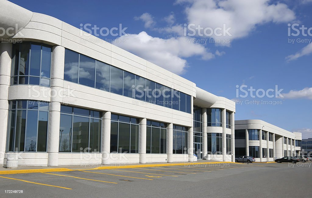 Modern Industrial Buildings District royalty-free stock photo