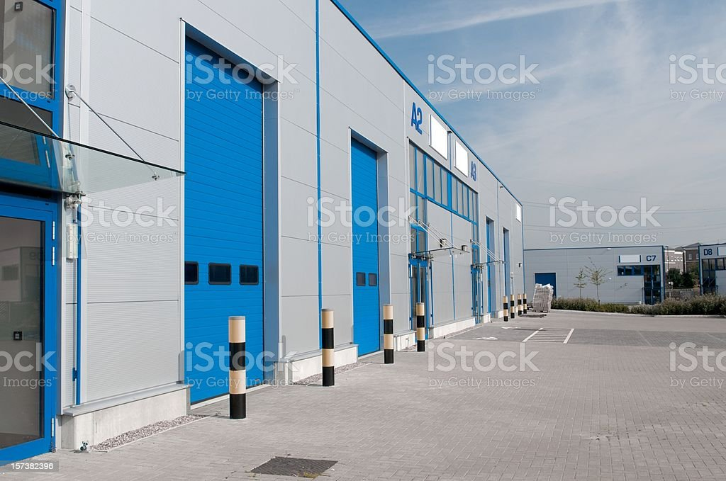 Modern Industrial Units royalty-free stock photo