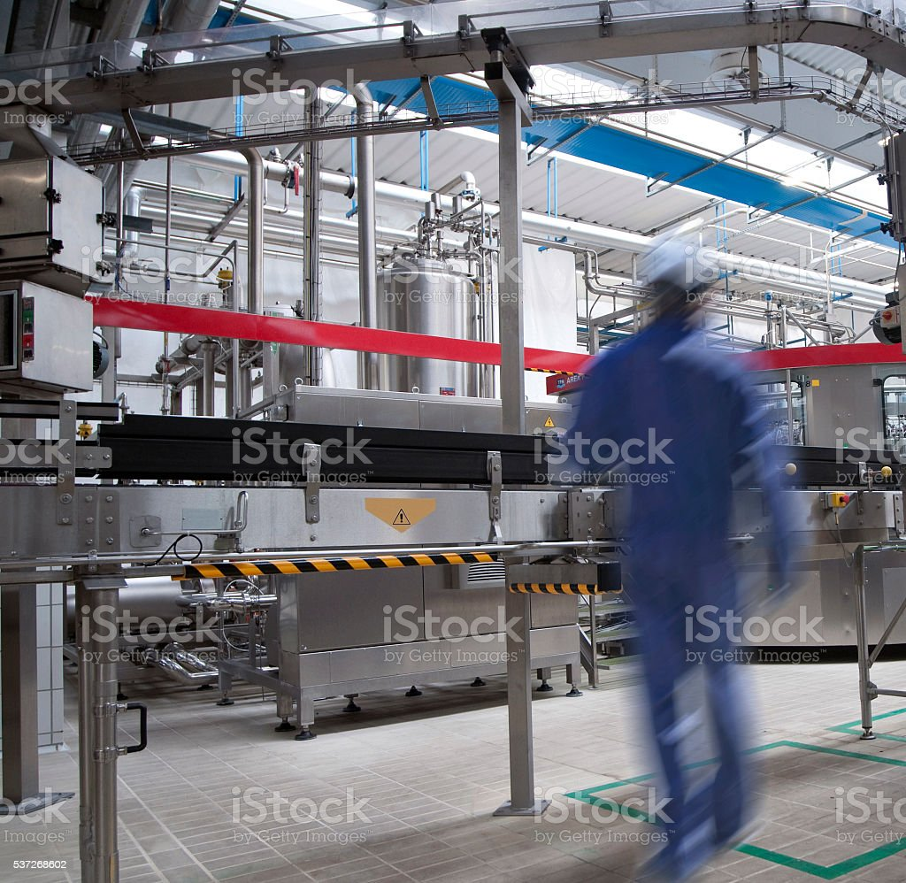 modern industry - interior stock photo