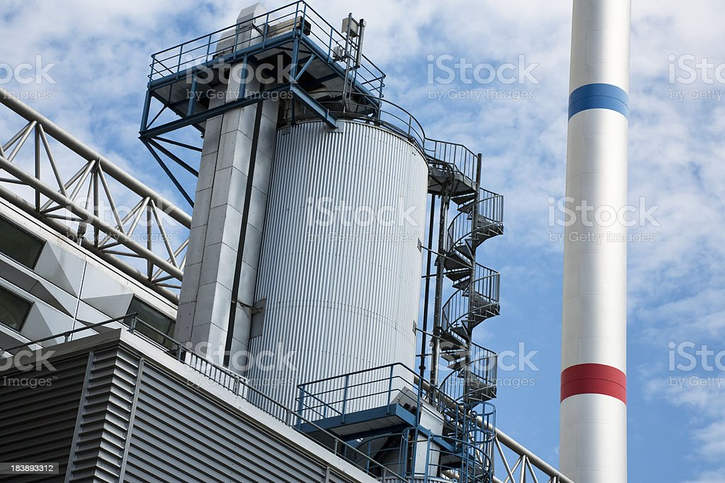 Modern Industry Plant Against Blue Sky royalty-free stock photo