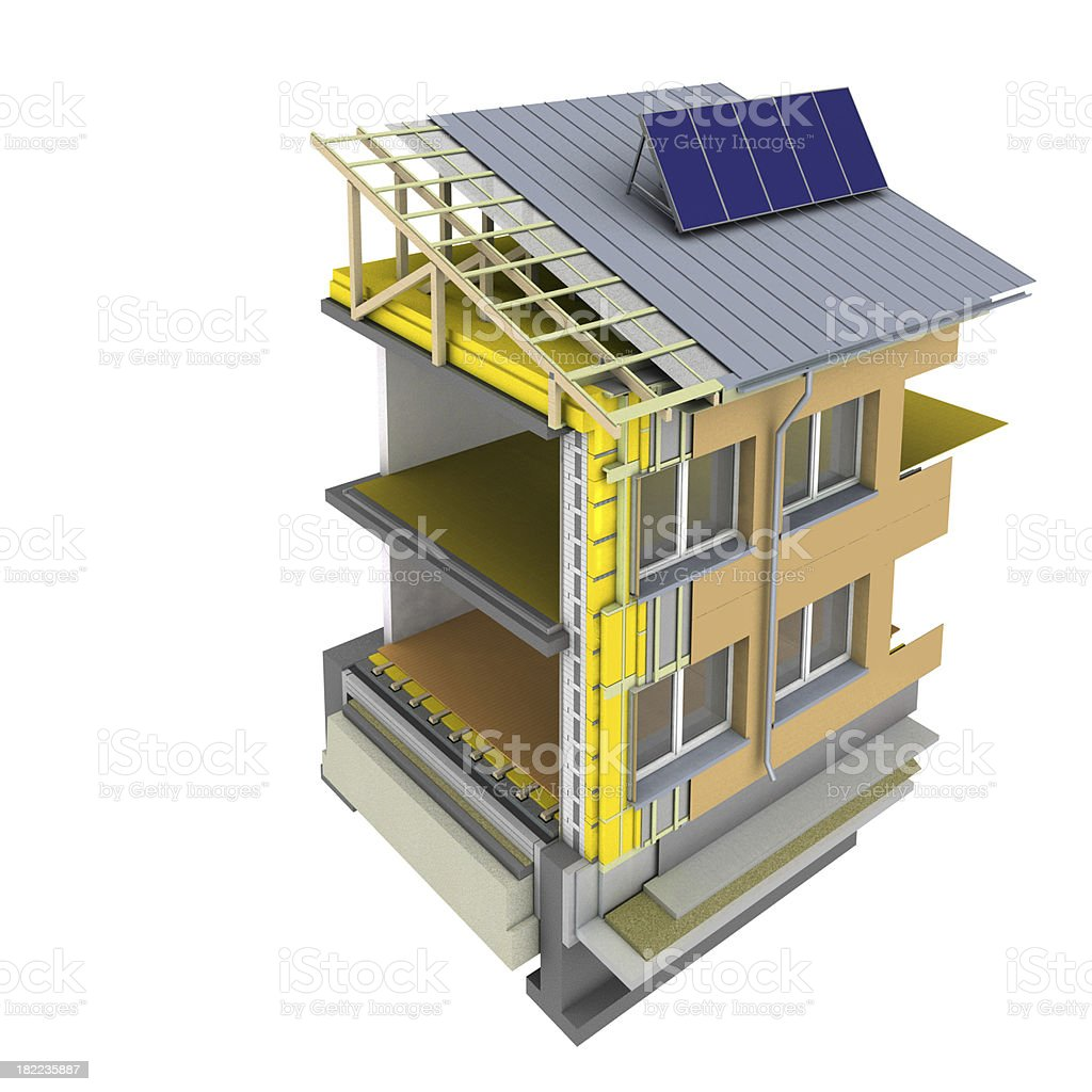 modern insulation project stock photo