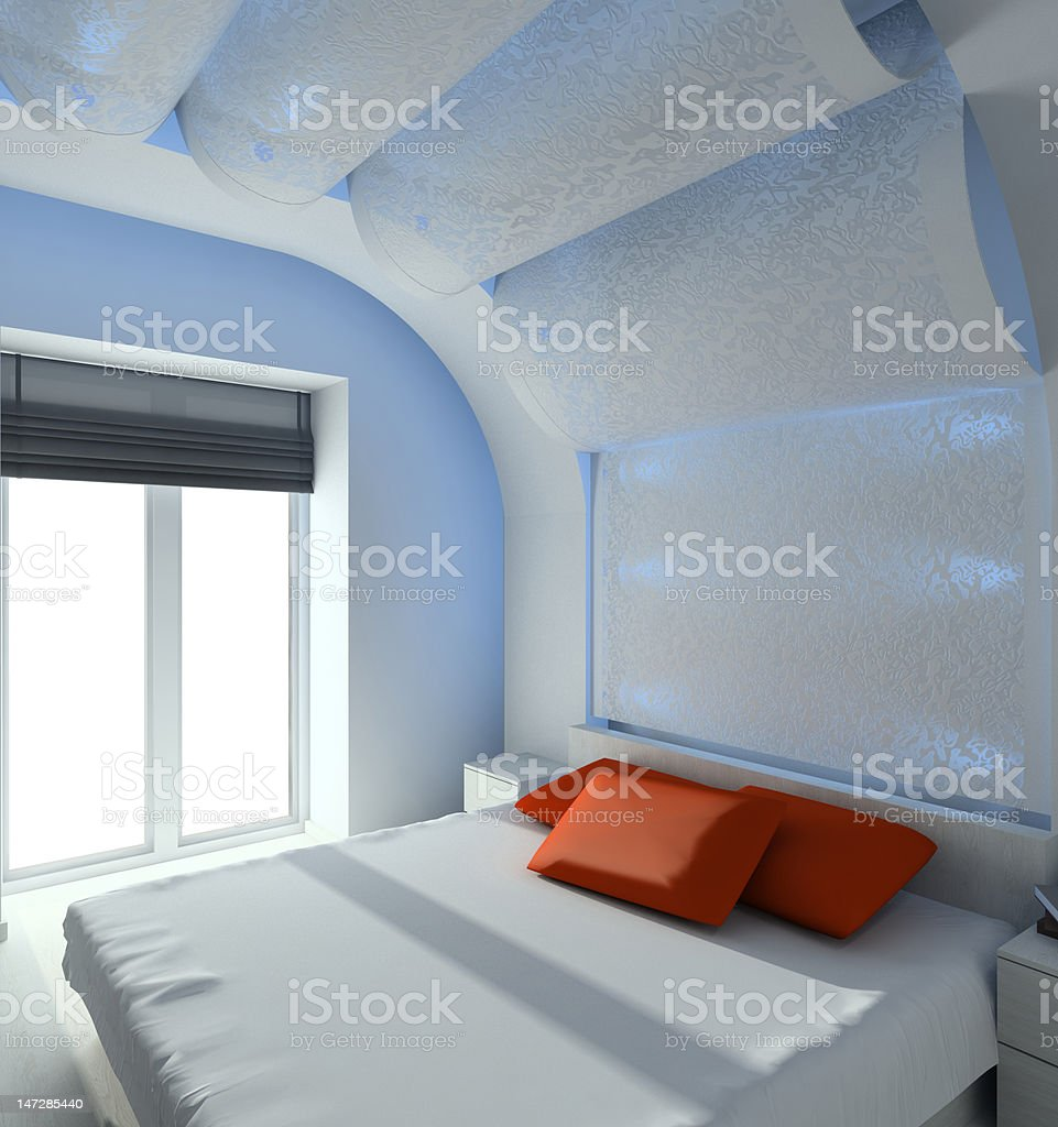 Modern interior. 3D render royalty-free stock photo