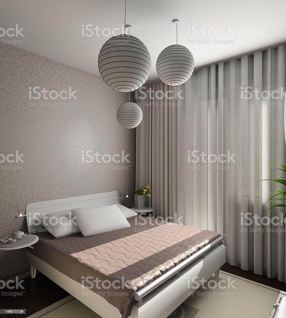 Modern interior. 3D render royalty-free stock photo