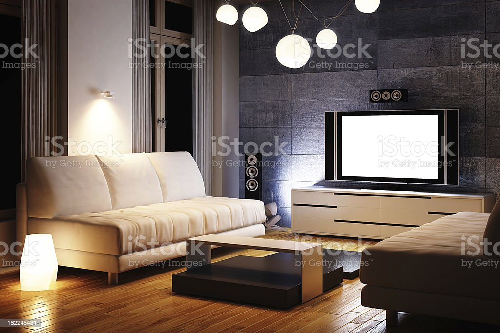 Modern Interior 3d render stock photo