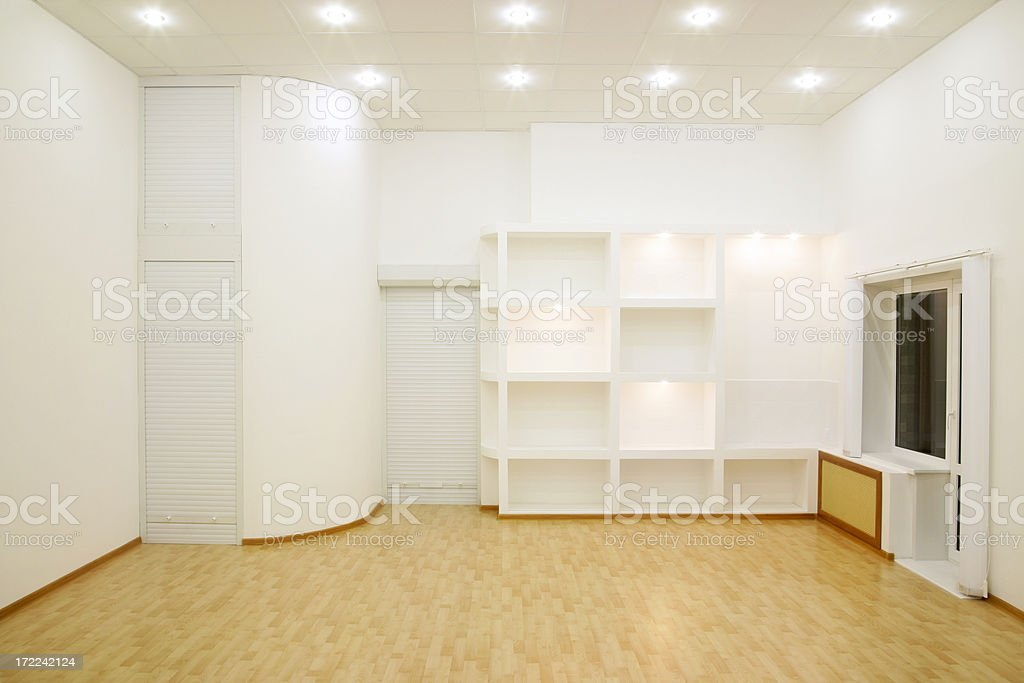 Modern Interior at evening royalty-free stock photo