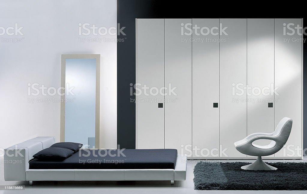 Modern interior | Bedroom royalty-free stock photo