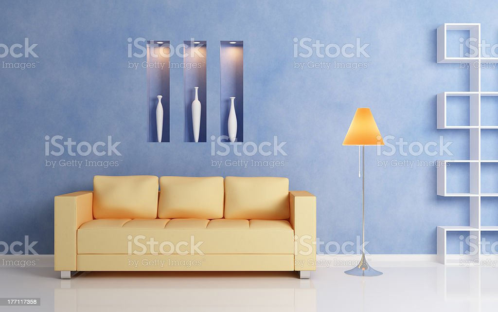 Modern interior compositiom royalty-free stock photo