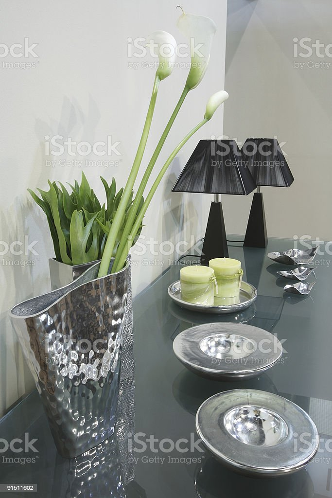 Modern interior decoration in living room royalty-free stock photo