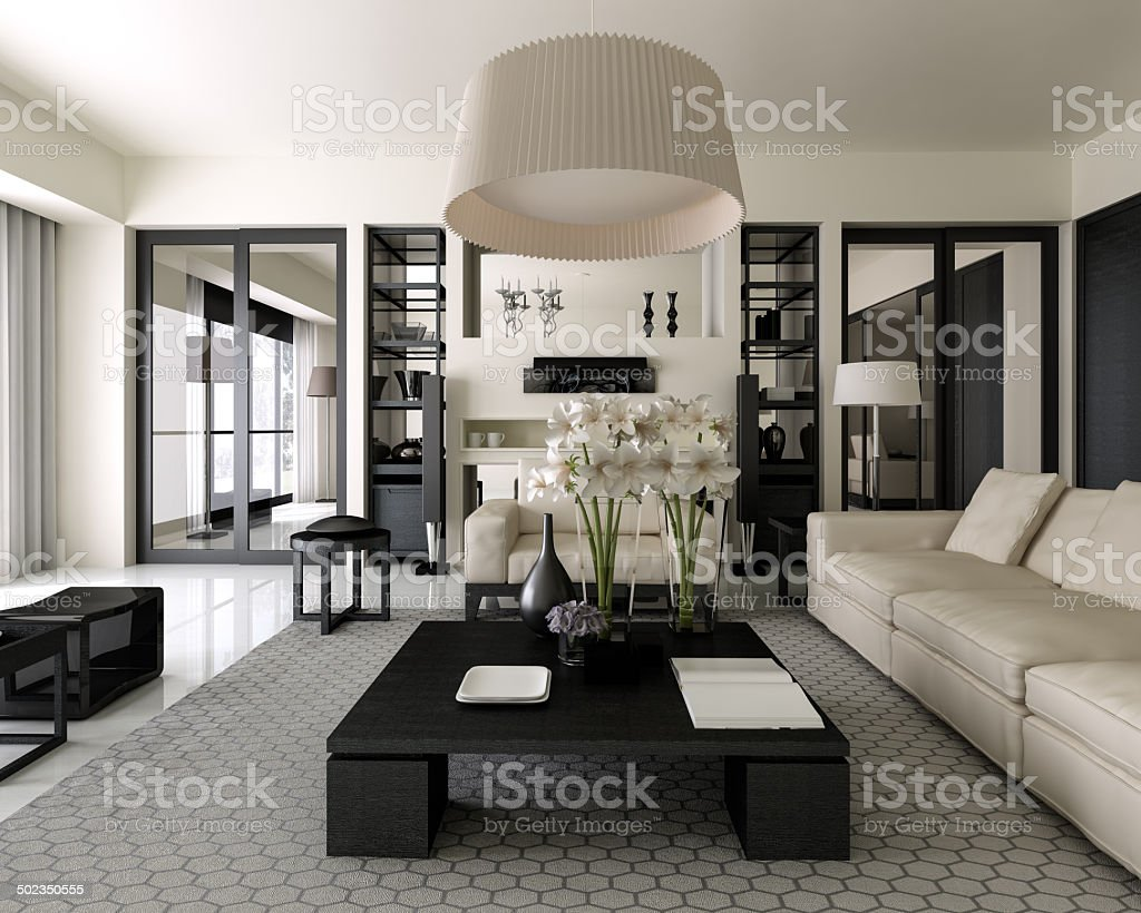 Modern Interior Design stock photo