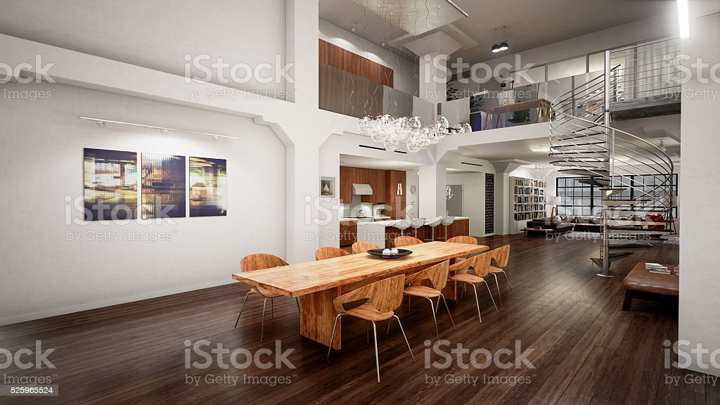 Modern Interior Design (16:9 UHD) stock photo