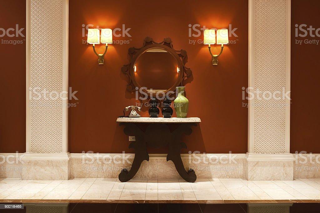 Modern interior Hallway stock photo