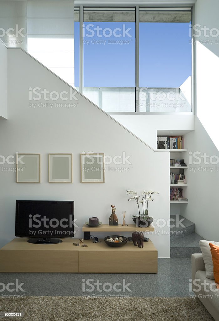 A modern interior house design with good natural lighting royalty-free stock photo