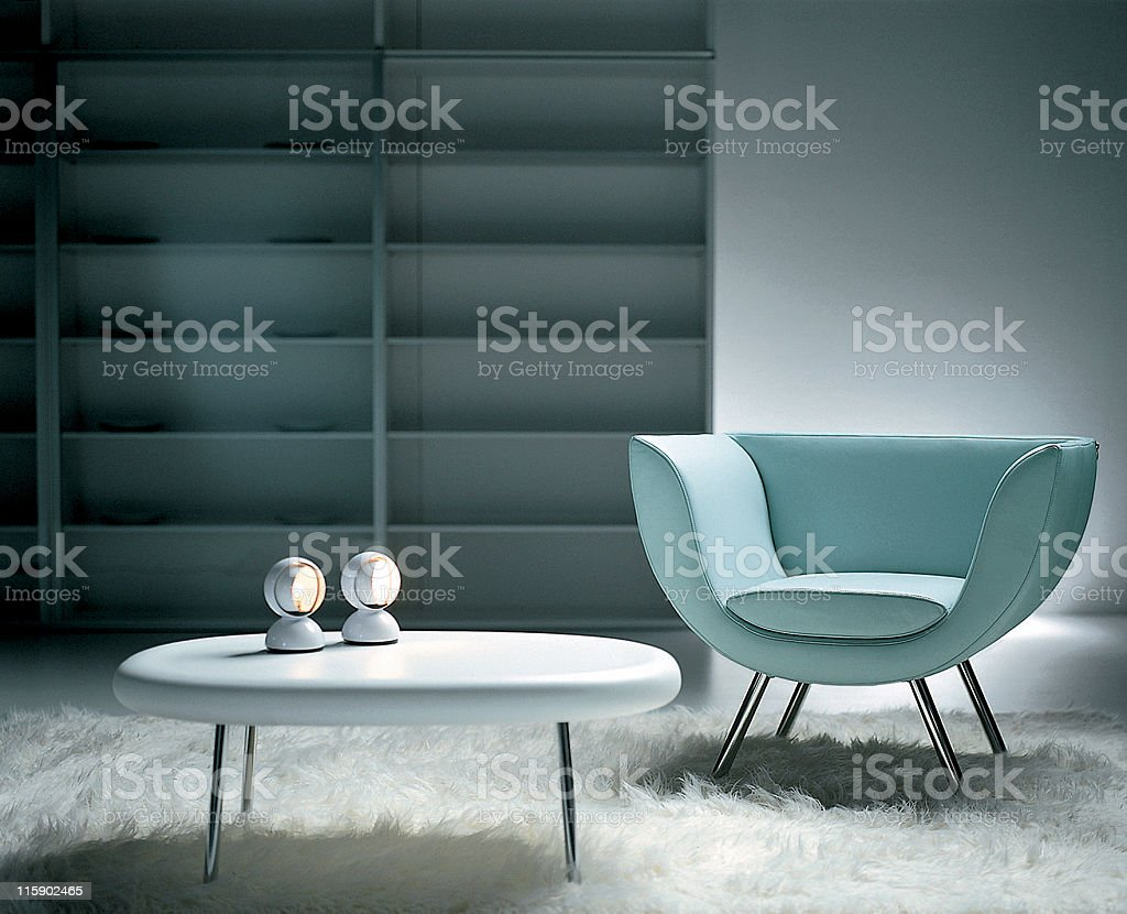 Modern interior | Living room royalty-free stock photo