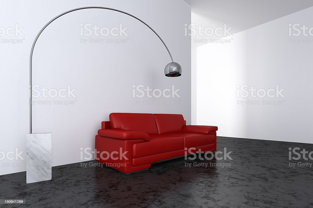 Modern interior - Living room royalty-free stock photo