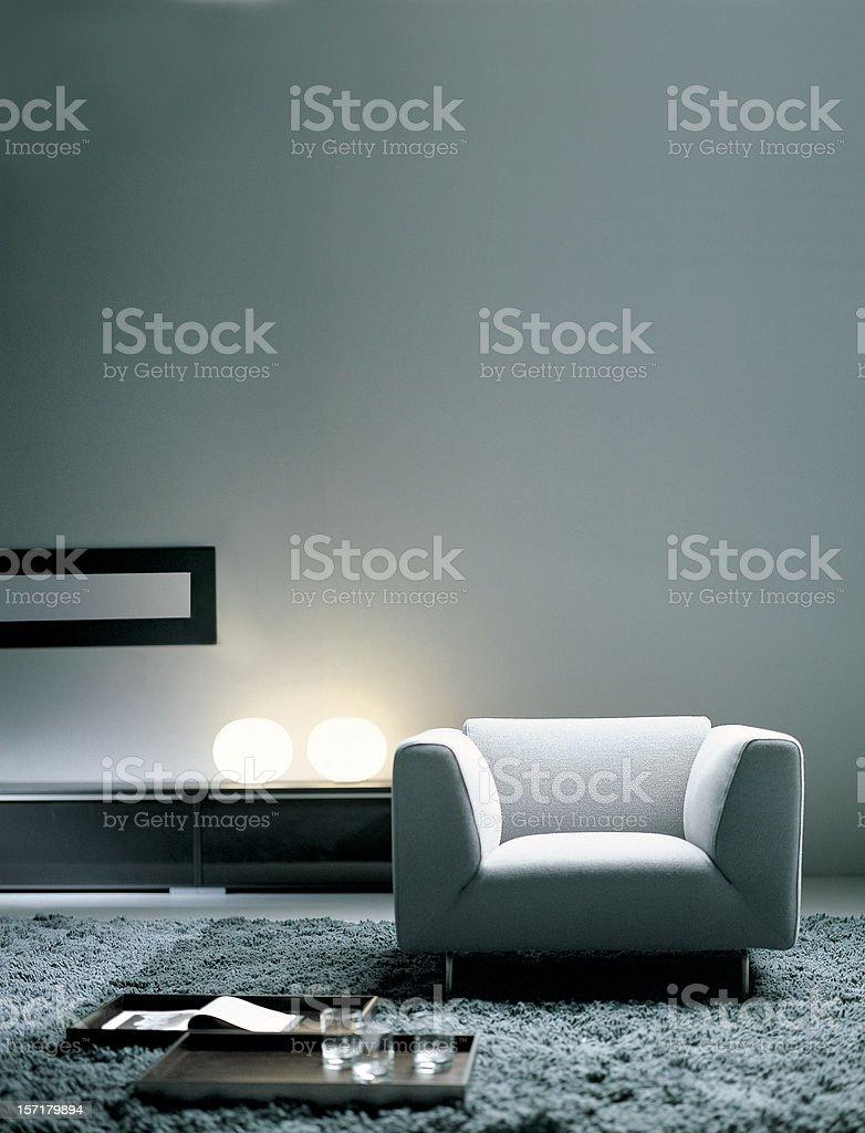 Modern interior   Living room stock photo