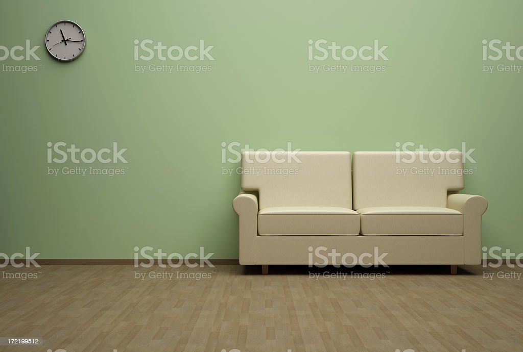Modern interior Livingroom royalty-free stock photo