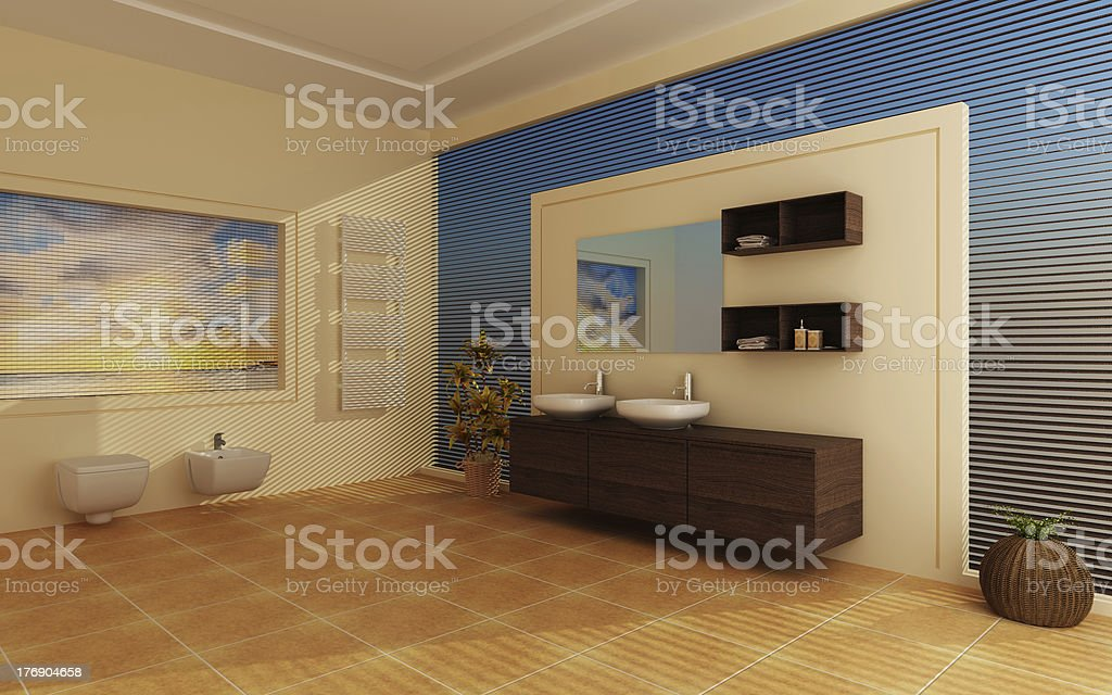 Modern interior of a bathroom royalty-free stock photo