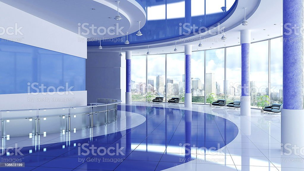 Modern interior of a hall royalty-free stock photo