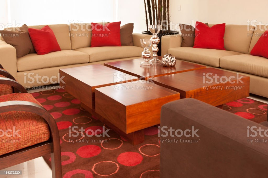 Modern interior of a living room royalty-free stock photo