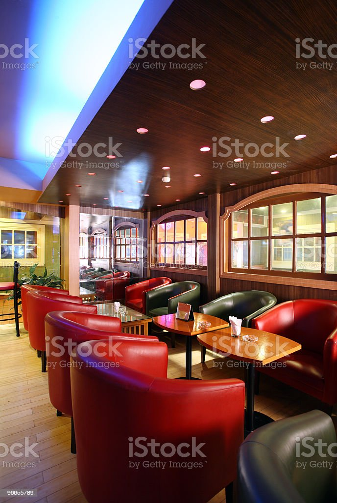 Modern interior of a restaurant or bar royalty-free stock photo