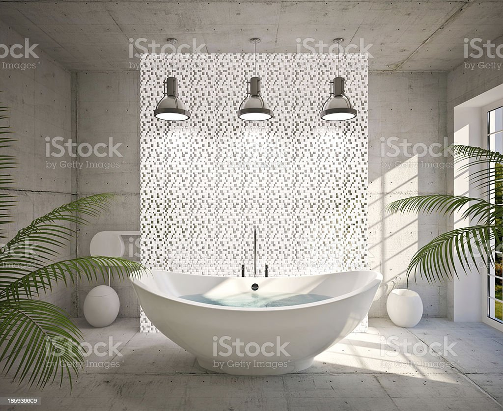 Modern interior of bathroom stock photo