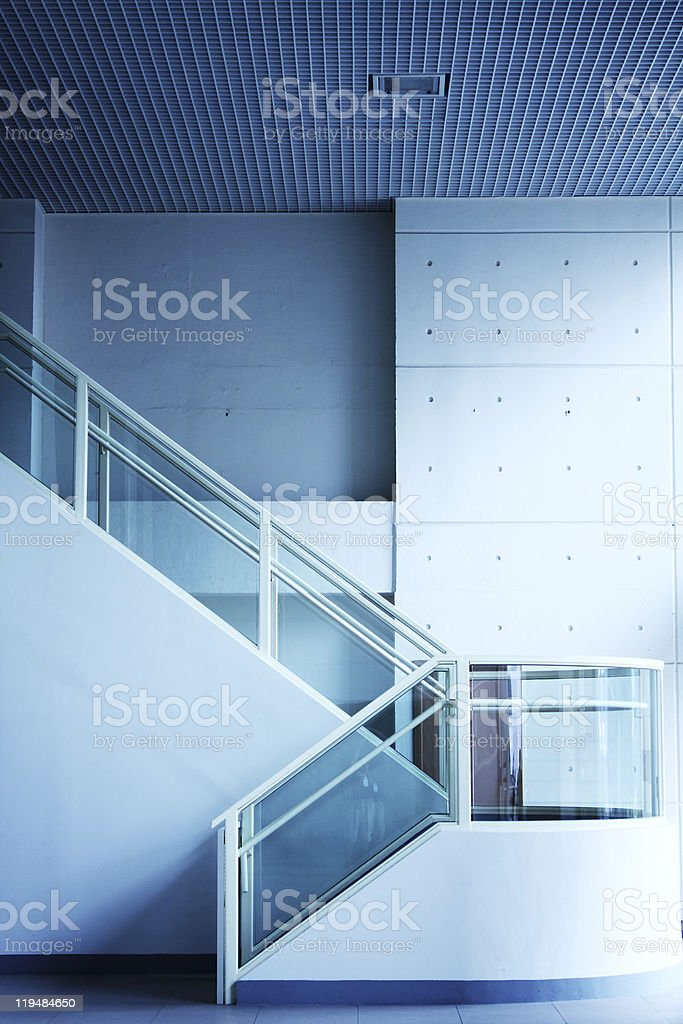 Modern interior of hall with stair royalty-free stock photo