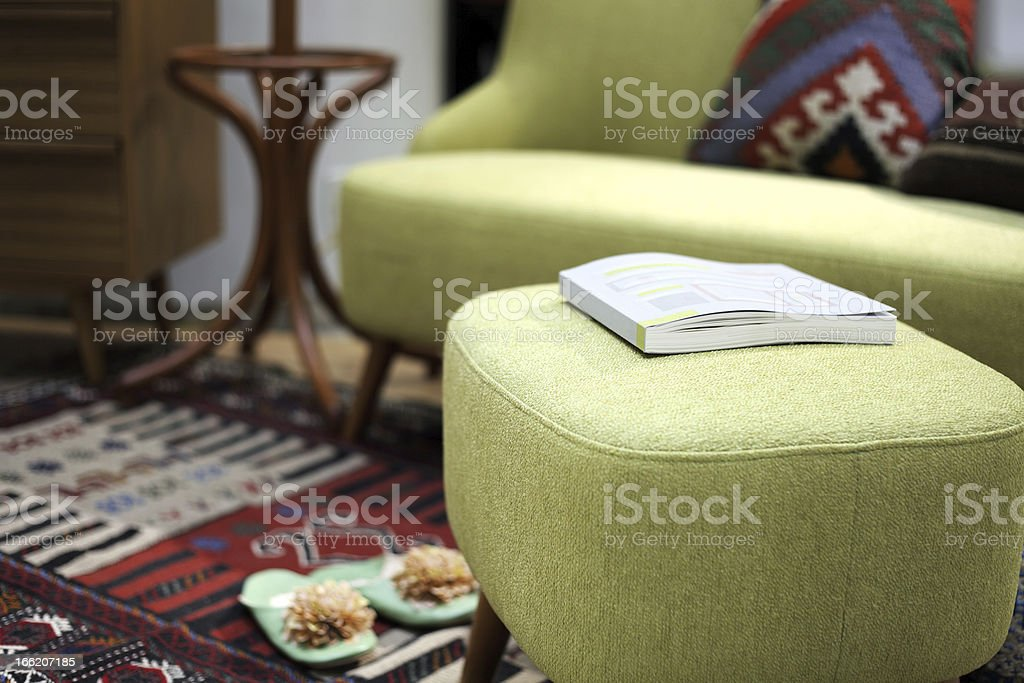 Modern interior of living room stock photo