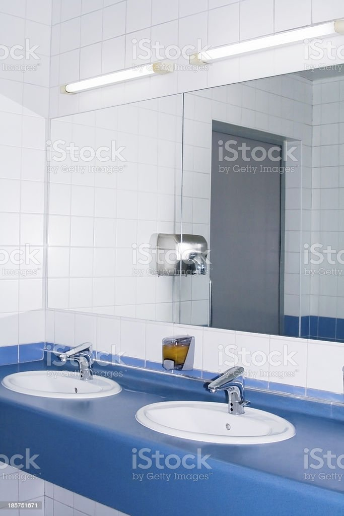 Modern interior of private restroom stock photo