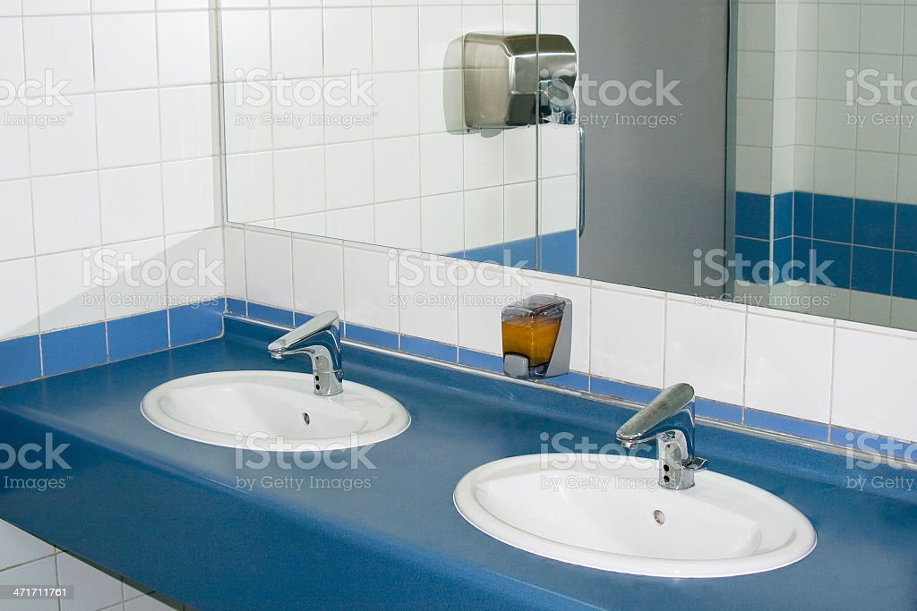 Modern interior of private restroom royalty-free stock photo